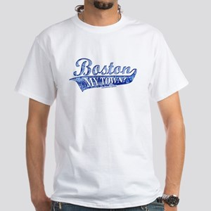 Boston My Town Blue White T-Shirt