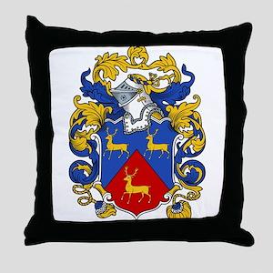 Hart Family Crest Throw Pillow