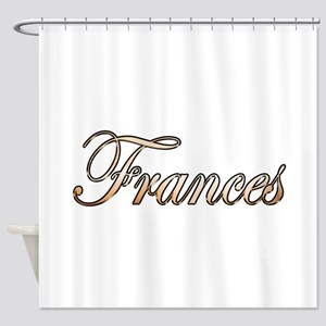Gold Frances Shower Curtain
