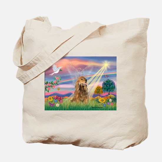 Cloud Angel / Cocker (brn) Tote Bag
