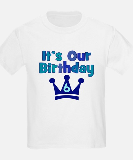 It's Our Birthday Crown (6)BOYS T-Shirt