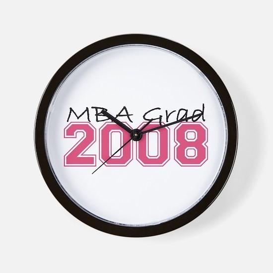 MBA Grad 2008 (Pink) Wall Clock