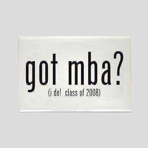 got mba? (i do! class of 2008) Rectangle Magnet