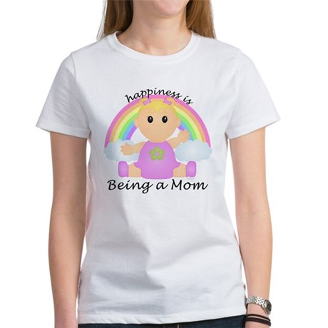 Happiness is: Mom (BG:rain) Women's T-Shirt