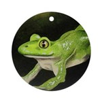 Frog Christmas Ornament (Round)