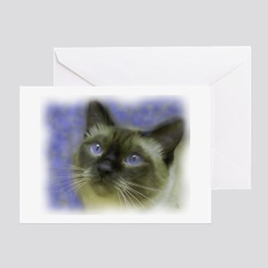 3-Siamese3_UseThisOne Greeting Cards