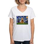 Starry / Cocker (#7) Women's V-Neck T-Shirt