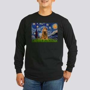 Starry / Cocker (#7) Long Sleeve Dark T-Shirt