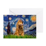 Starry / Cocker (#7) Greeting Cards (Pk of 10)