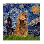 Starry / Cocker (#7) Tile Coaster