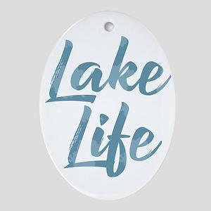 Lake Life Oval Ornament