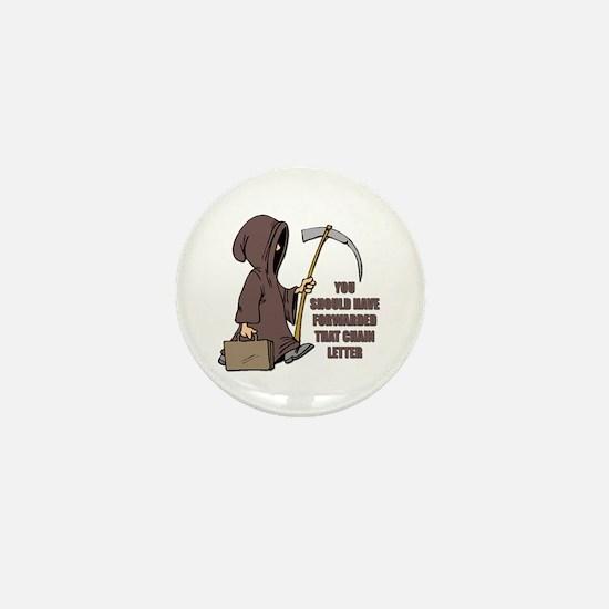 Chain Letter Mini Button