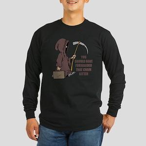 Chain Letter Long Sleeve Dark T-Shirt