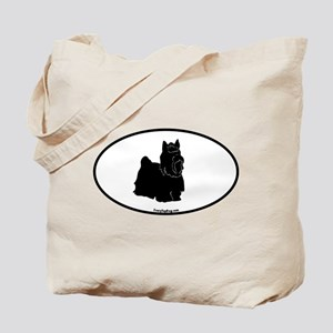 Yorkie Euro Oval Tote Bag