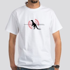 Velociraptor Vibrations White T-Shirt