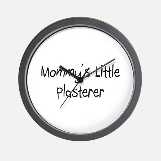 Mommy's Little Plasterer Wall Clock