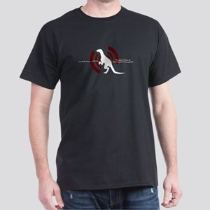 Velociraptor Vibrations Black Dark T-Shirt