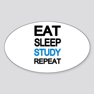 Eat sleep study repeat Sticker