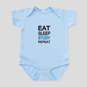 Eat sleep study repeat Body Suit