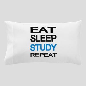 Eat sleep study repeat Pillow Case