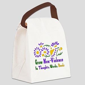 Grow Non-Violence Canvas Lunch Bag