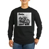Motorcycle shadow Long Sleeve Dark T-Shirts