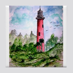 jupiter florida lighthouse fi Tile Coaster