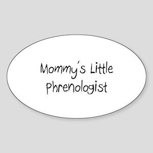 Mommy's Little Phrenologist Oval Sticker