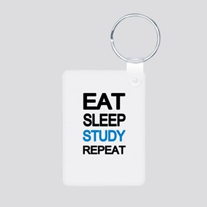 Eat sleep study repeat Keychains