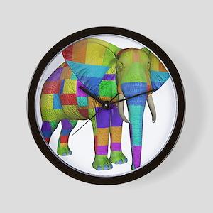 Rainbow Elephant Wall Clock