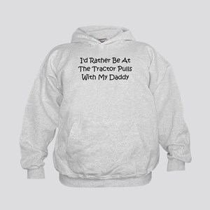 Tractor Pulls With Daddy Kids Hoodie
