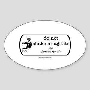 shake or agitate pt Oval Sticker
