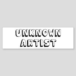 Unknown Artist Sticker (Bumper)