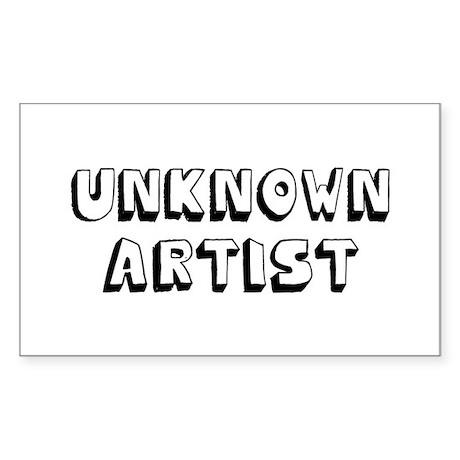 Unknown Artist Sticker (Rectangle)