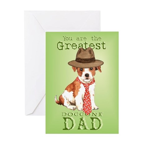 Parson Russell I Love Dad Greeting Card