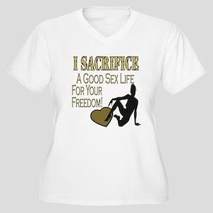 I Sacrifice Women's Plus Size V-Neck T-Shirt
