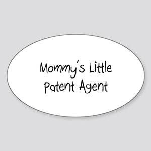 Mommy's Little Patent Agent Oval Sticker