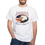 RETRO America- Love it or Leave it! White T-Shirt