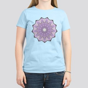 Purple Flower Line Mandala Women's Light T-Shirt
