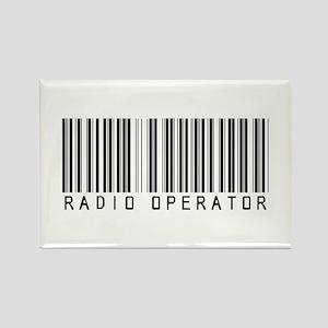 Radio Operator Barcode Rectangle Magnet