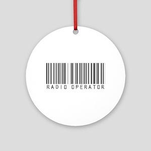Radio Operator Barcode Ornament (Round)