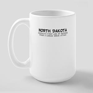 North Dakota-Canuck Sneak Att Large Mug