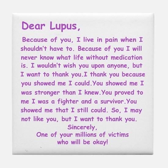 Dear Lupus Tile Coaster