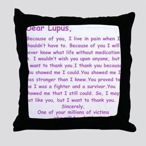 Dear Lupus Throw Pillow
