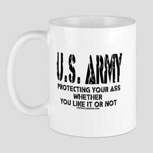 US ARMY PROTECTING YOUR ASS Mug