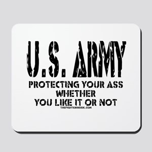 US ARMY PROTECTING YOUR ASS Mousepad
