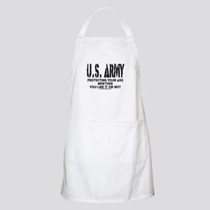 US ARMY PROTECTING YOUR ASS BBQ Apron