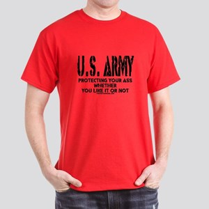 US ARMY PROTECTING YOUR ASS Dark T-Shirt