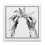 Origami Folding - Vintage Tile Coaster