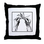 Origami Folding - Vintage Throw Pillow